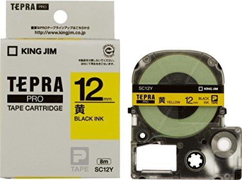 黄/黒文字 12mm キングジム テープカートリッジ テプラPRO カラーラベル SC12Y イエロー 黄/黒文字 12mm_画像4