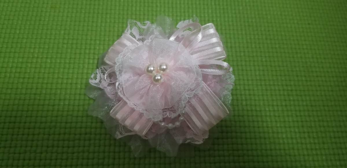 コサージュ 美品 2点セット 薔薇 ピンク ■ 送料無料 ■ お洒落 卒業式 入学式 フォーマル 結婚式 イベント リボン 可愛いです_画像2