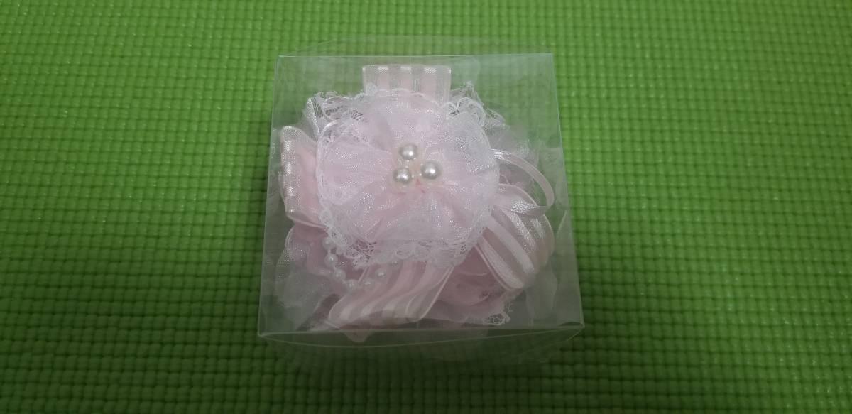 コサージュ 美品 2点セット 薔薇 ピンク ■ 送料無料 ■ お洒落 卒業式 入学式 フォーマル 結婚式 イベント リボン 可愛いです_画像4