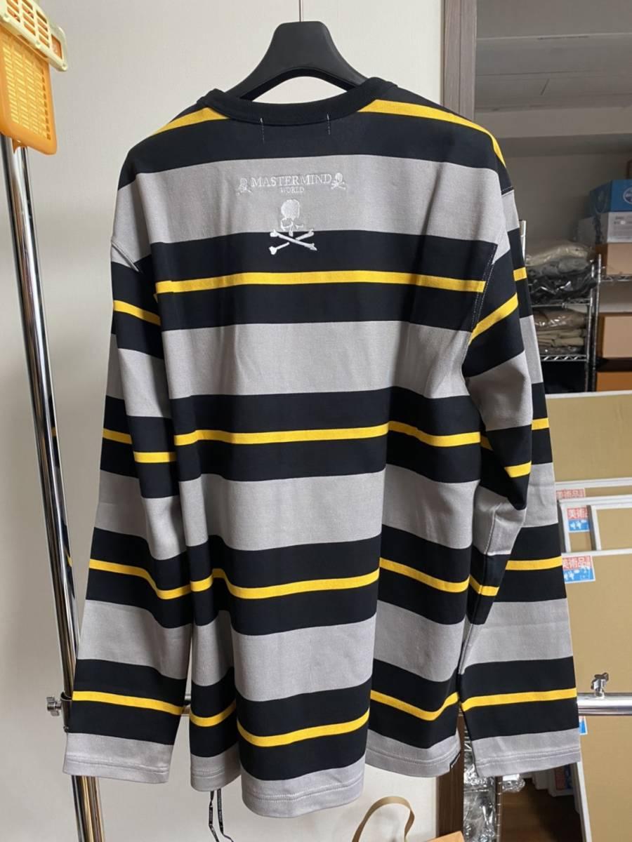 未使用 20ss MASTERMIND WORLD マスターマインド ワールド ボーダー ロング Tシャツ S_画像2