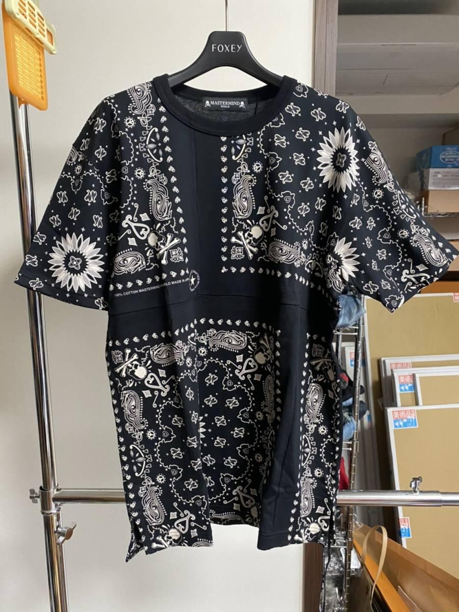 未使用 20ss MASTERMIND WORLD マスターマインド ワールド スカル バンダナ Tシャツ M_画像1
