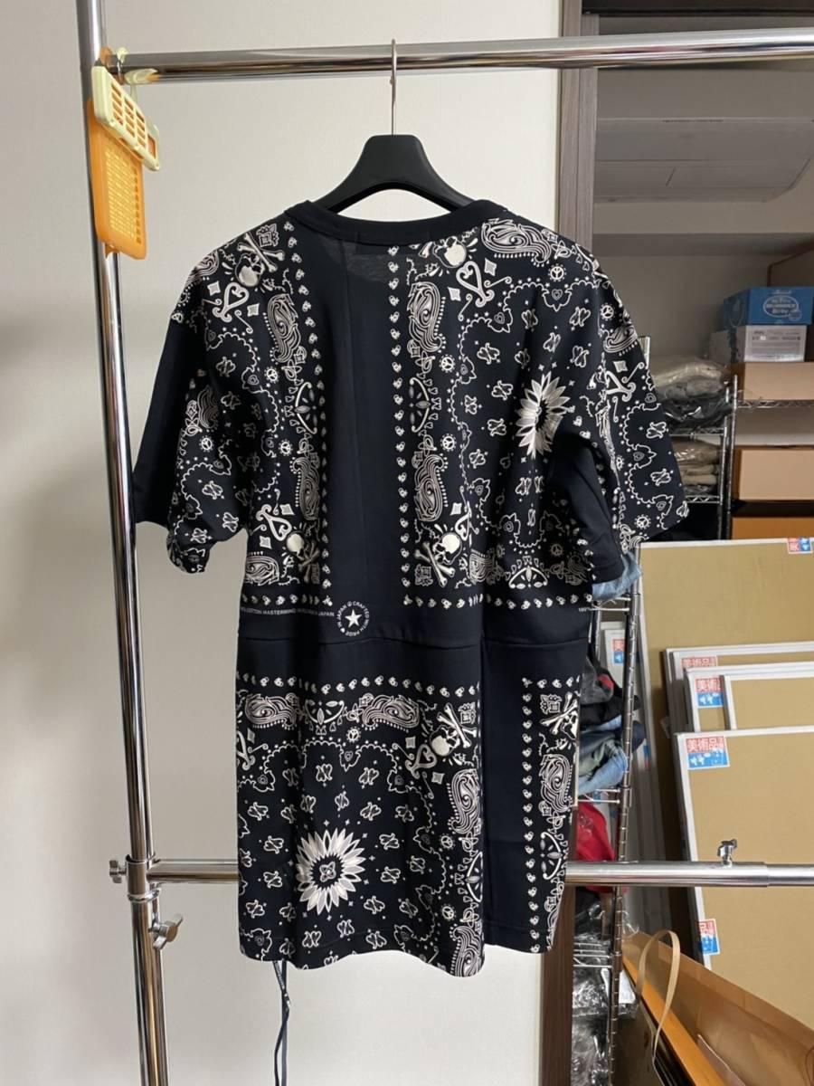 未使用 20ss MASTERMIND WORLD マスターマインド ワールド スカル バンダナ Tシャツ M_画像2