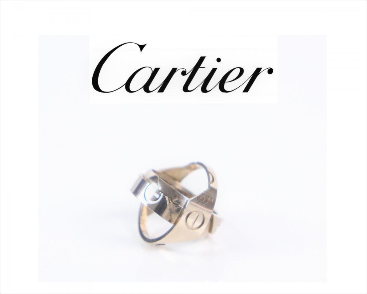 Cartier カルティエ アストロ ラブリング サイズ58 18号相当 18K 750 重量14.3g WG ホワ