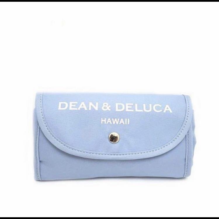 DEAN & DELUCA ディーン&デルーカ エコバッグ トートバッグ ハワイ柄ブルー