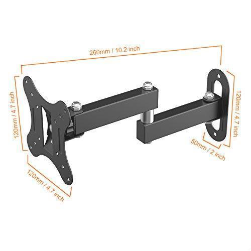 !- テレビ壁掛け金具 上下左右角度調節 アーム式 Himino 14-27インチLCD LED OLED液晶テレビ対応 左右移動式 耐荷重10kg VESA_画像5