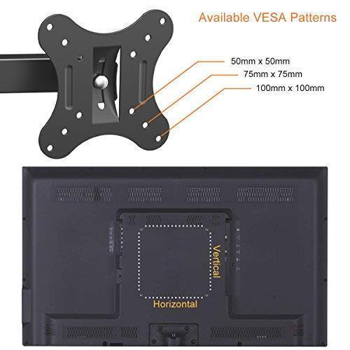 !- テレビ壁掛け金具 上下左右角度調節 アーム式 Himino 14-27インチLCD LED OLED液晶テレビ対応 左右移動式 耐荷重10kg VESA_画像6
