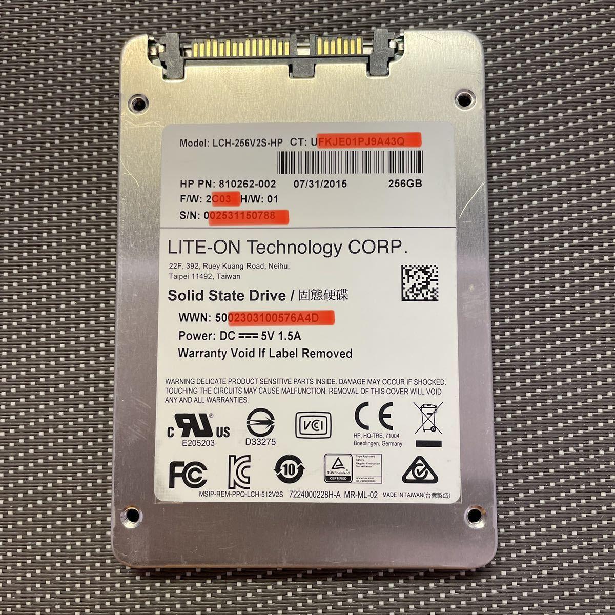 LITEON SSD 2.5インチSATA 256GB使用時間2510h