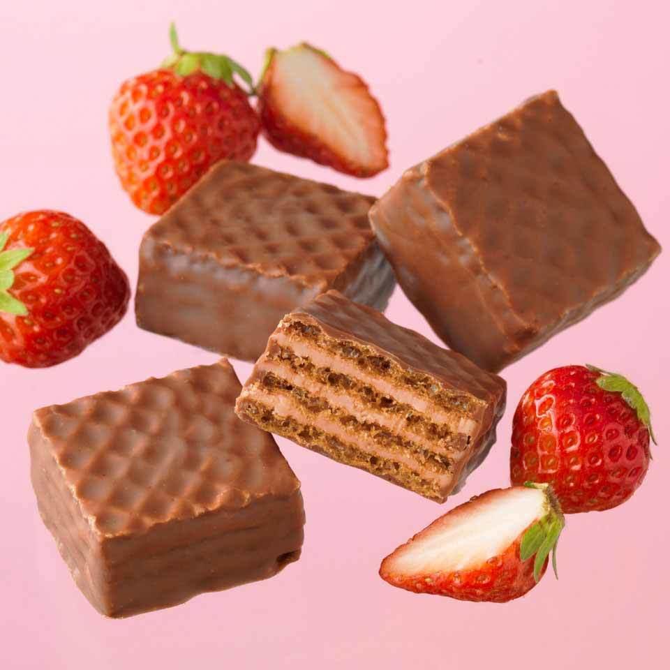 △【送料無料】ロイズ 【北海道銘菓】 チョコレートウエハース[いちごクリーム12個入] 他北海道お土産多数出品中 ROYCE'_画像2