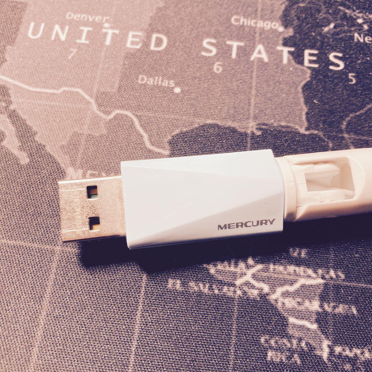 WiFi 無線LAN 子機 USB2.0 MERCURY ウィフィ