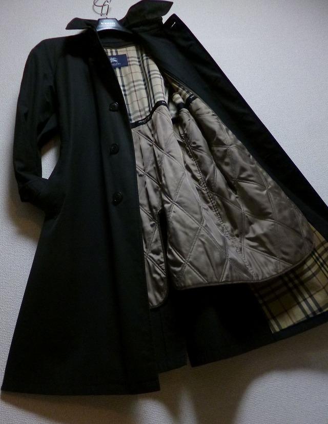 【超高級!】25万! ☆BURBERRY☆バーバリー 完全最高級キルティングライナー付きコート! 圧倒的高級感! 超スタイリッシュ! 別格別級! 美品!