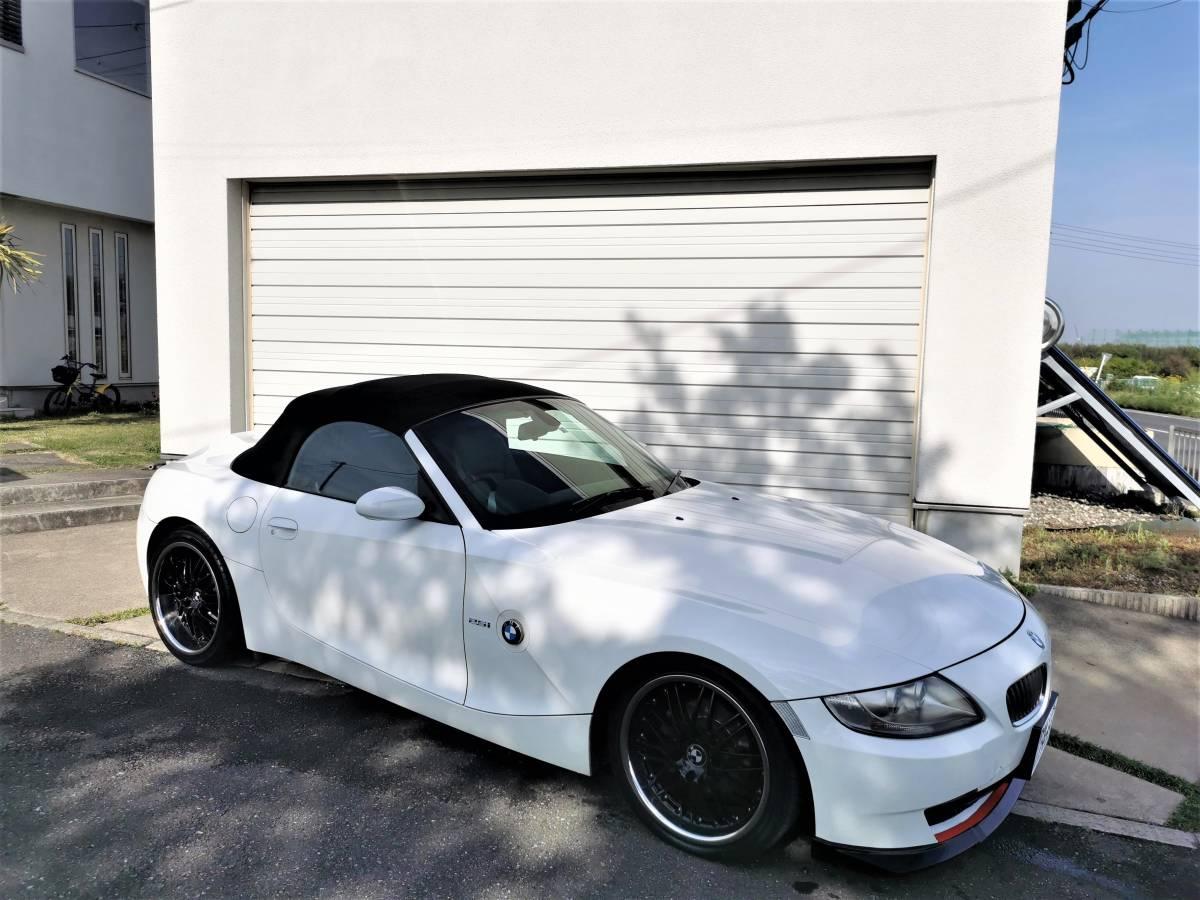 BMW Z4 ロードスター 2.5i 後期モデル アルピンホワイト カスタム 程度良好 1円スタート 完全売切り