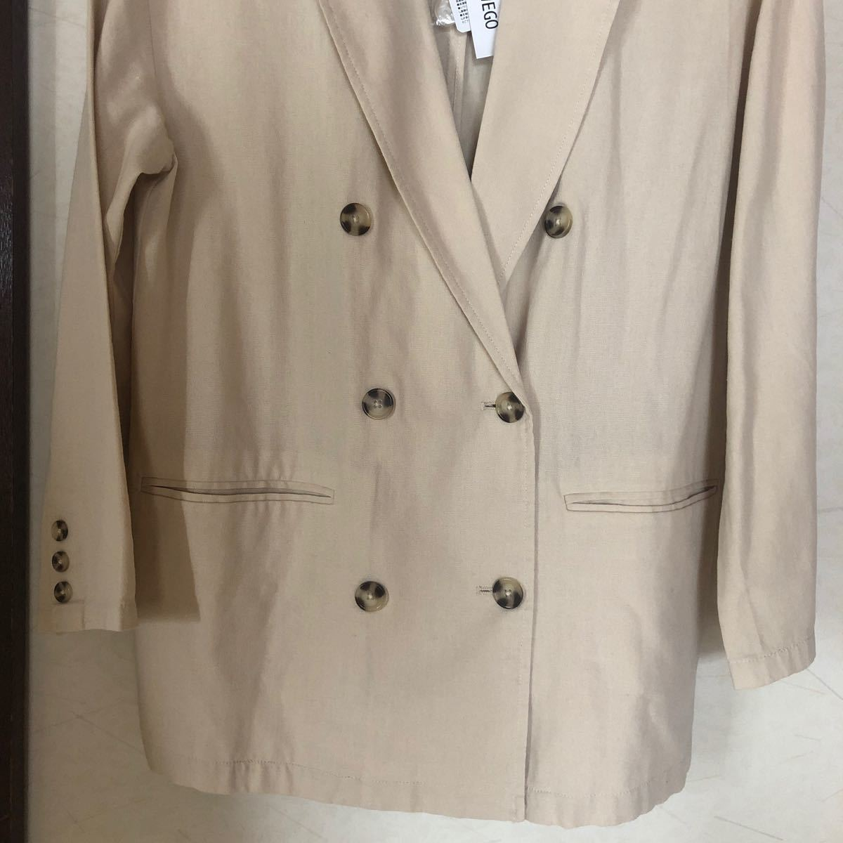ジャケット テーラードジャケット WEGO/リネンブレンドテーラードジャケット