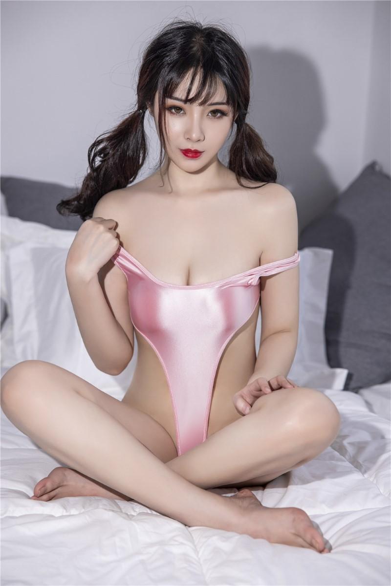 セクシー スベスベ 美胸 水着 ハイレグレオタード 体操服 伸縮性に優れ コスプレ衣装 RT369/ピンク_画像7