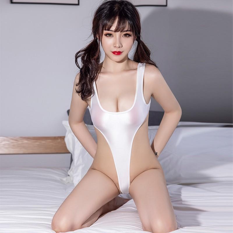 セクシー スベスベ 美胸 水着 ハイレグレオタード 体操服 伸縮性に優れ コスプレ衣装 RT369/ホワイト_画像6