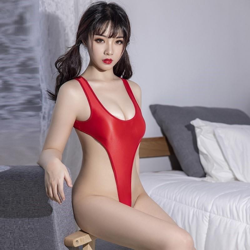 セクシー スベスベ 美胸 水着 ハイレグレオタード 体操服 伸縮性に優れ コスプレ衣装 RT369/レッド_画像8