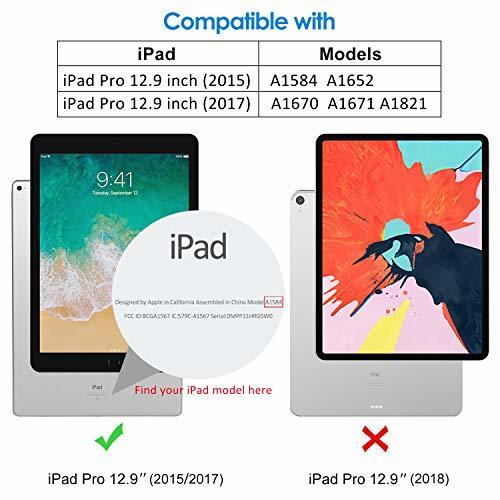 JEDirect ブラック JEDirect iPad Pro 12.9 (2015/2017型) ケース レザー 三つ折スタンド_画像2
