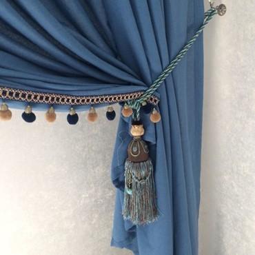 どんなカーテンも素敵に変身☆タッセル カーテン アクセサリー フリンジ 飾り 高級感 ヴィンテージ ロープ 紐 房 雑貨 エレガント DD288*_画像3