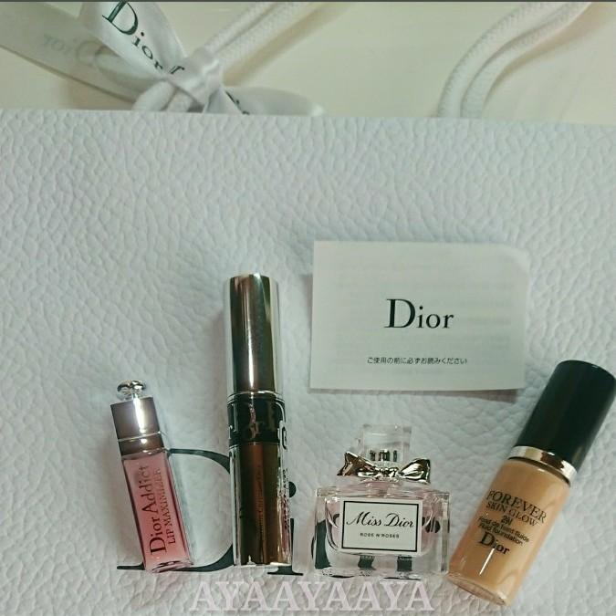 Dior 香水 ミスディオール ローズ&ローズ、マキシマイザー グロス、ファンデーション、マスカラ ディオール