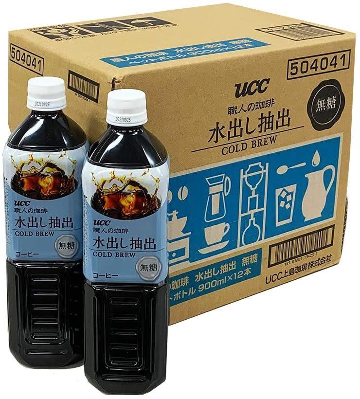 UCC 職人の珈琲 水出し抽出 無糖 コールドブリュー ペットボトル 900ml ×12本_画像1