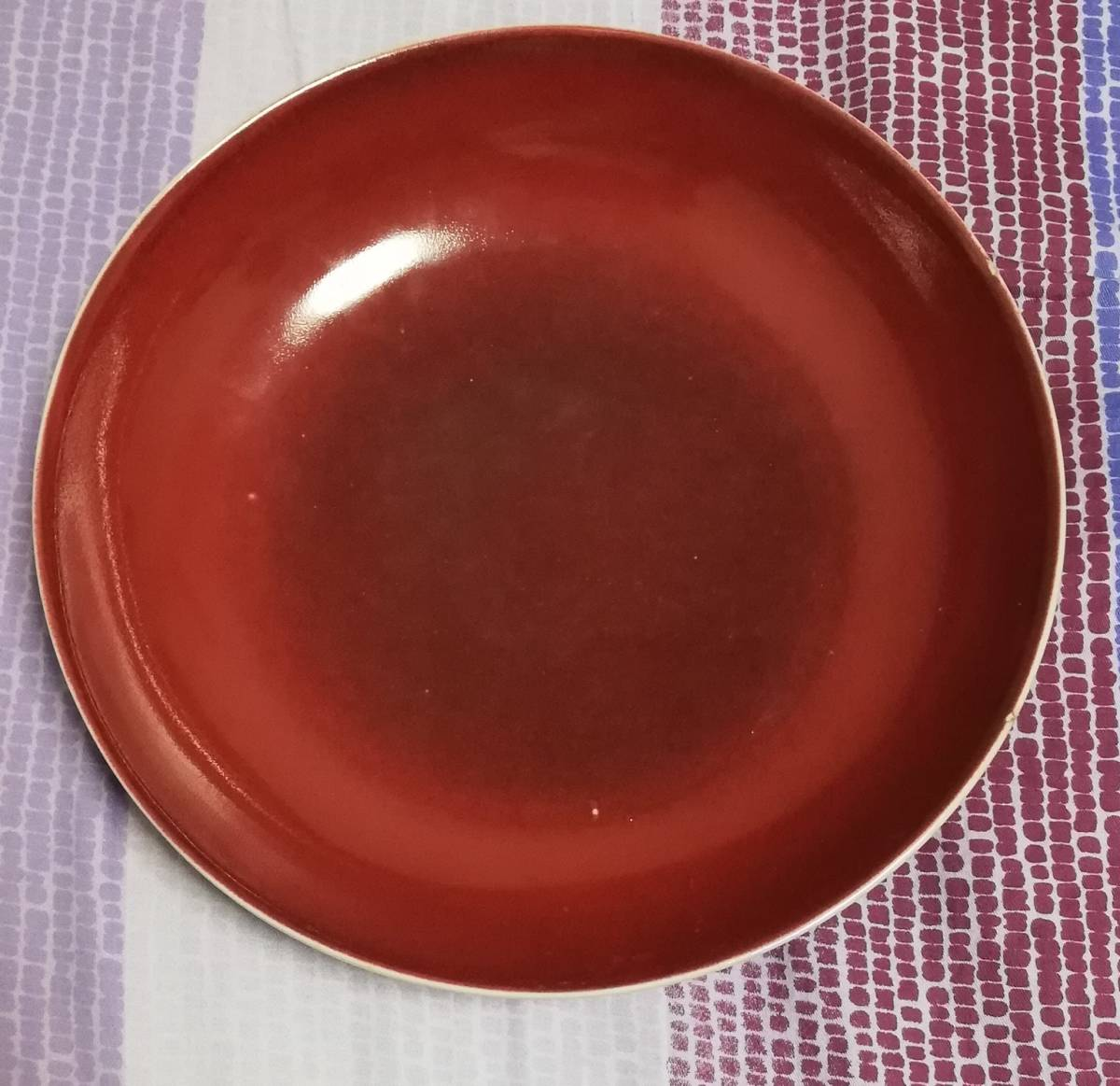 官窯 大清乾隆年製銘あり 祭紅 皿 中国 時代保証_画像7