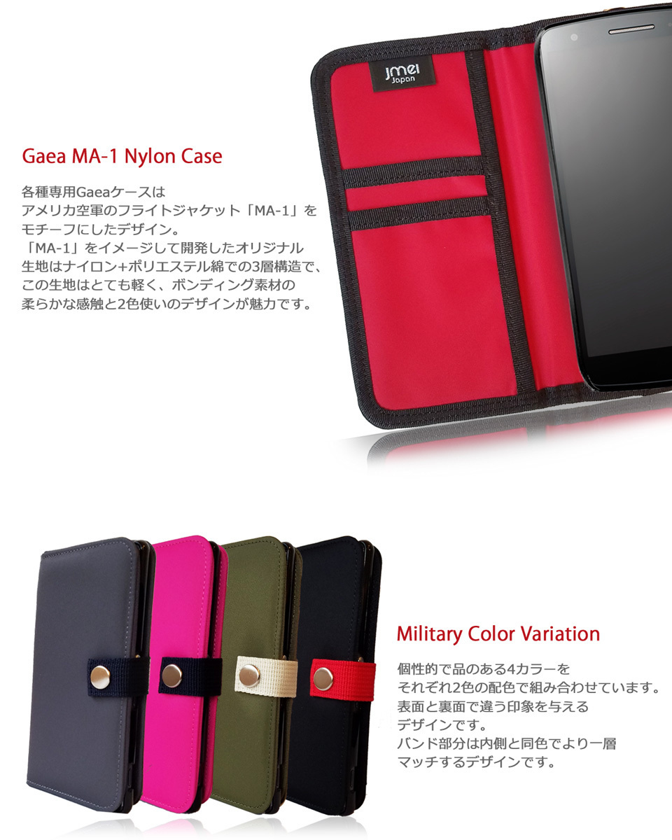 docomo Galaxy A21ケース SIMフリー カバー(カーキ)MA-1 手帳型 カード収納付 SC-42A ドコモ ナイロン スマホケース 防水 防塵 003_画像5
