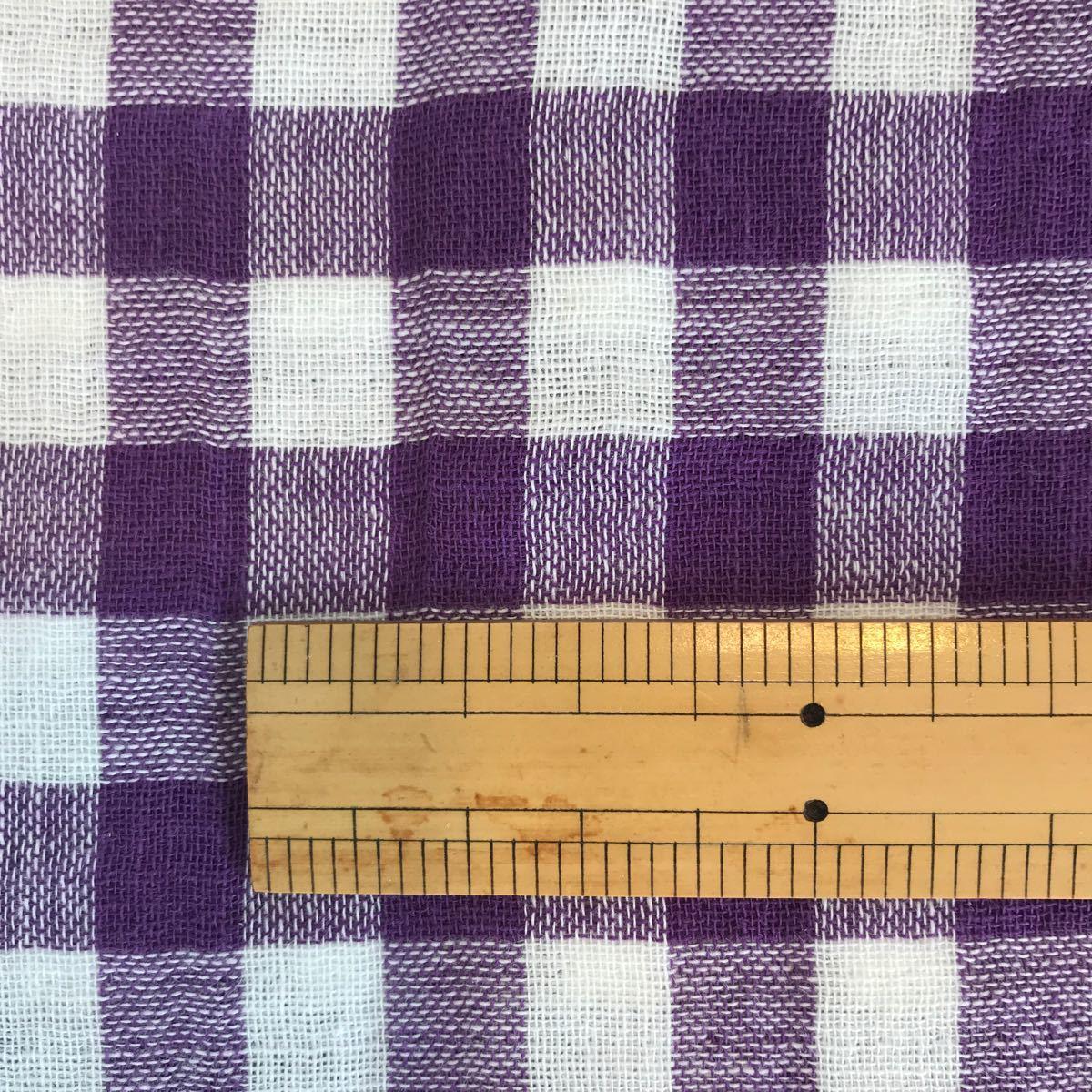 値下げギンガムチェック柄 110 x 200cm 布 裁縫 生地 ダブルガーゼ布