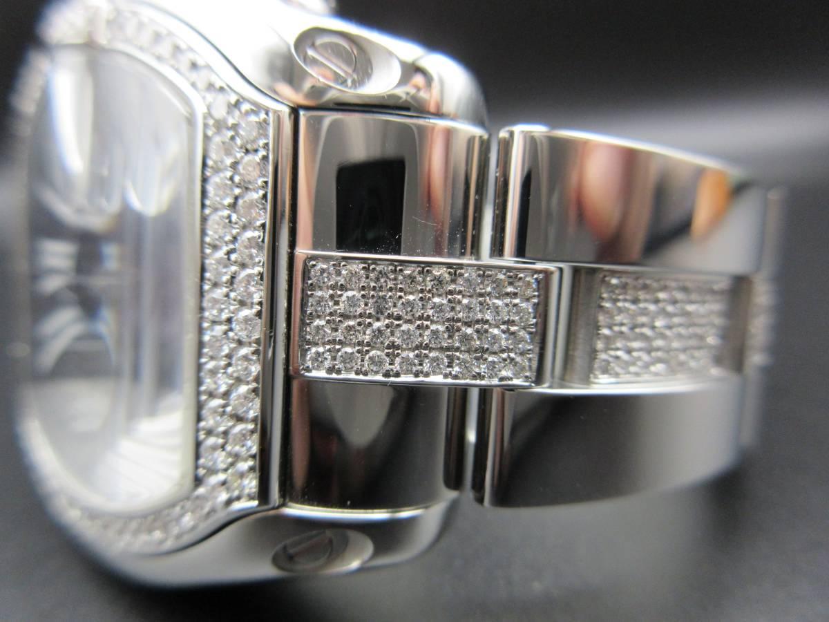 Cartier カルティエ ロードスター クロノグラフ LM ベゼルアフターダイヤ加工します カスタム W62041V3 SS 019X6 007 020 取付 サントス S_画像5