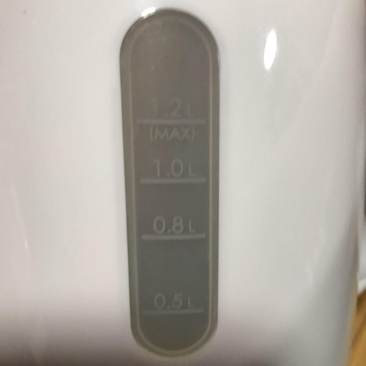 美品 電気ケトル SN-3228(WH)  ニトリ 電気ポット