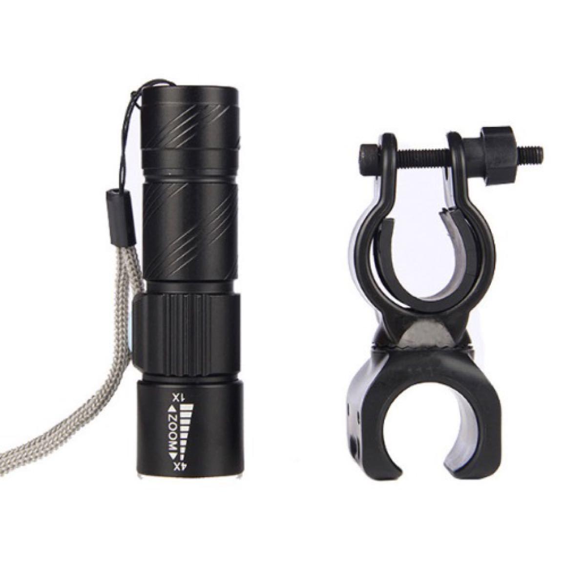☆ホルダー付き☆サイクリング &アウトドア USB充電 懐中電灯 led 強力 防水 携帯