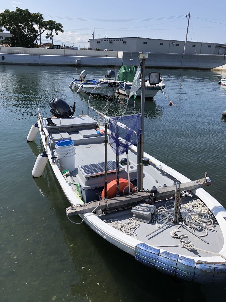 「和船 プレジャーボート YAMAHA 25馬力 船外機 2019年製 ※引き取り限定」の画像1