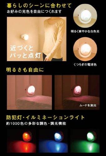 ホワイト ムサシ RITEX 「自由に曲がる三脚で様々な場所に取付可能! 」 LEDどこでもセンサーライト 調色機能搭載 ASL_画像6