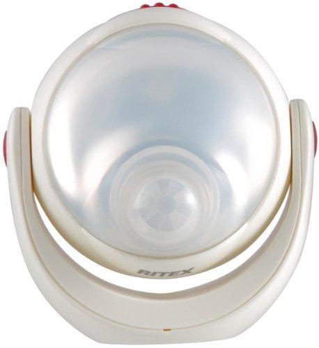 ホワイト ムサシ RITEX 「自由に曲がる三脚で様々な場所に取付可能! 」 LEDどこでもセンサーライト 調色機能搭載 ASL_画像9