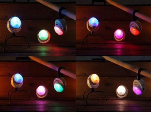 ホワイト ムサシ RITEX 「自由に曲がる三脚で様々な場所に取付可能! 」 LEDどこでもセンサーライト 調色機能搭載 ASL_画像4