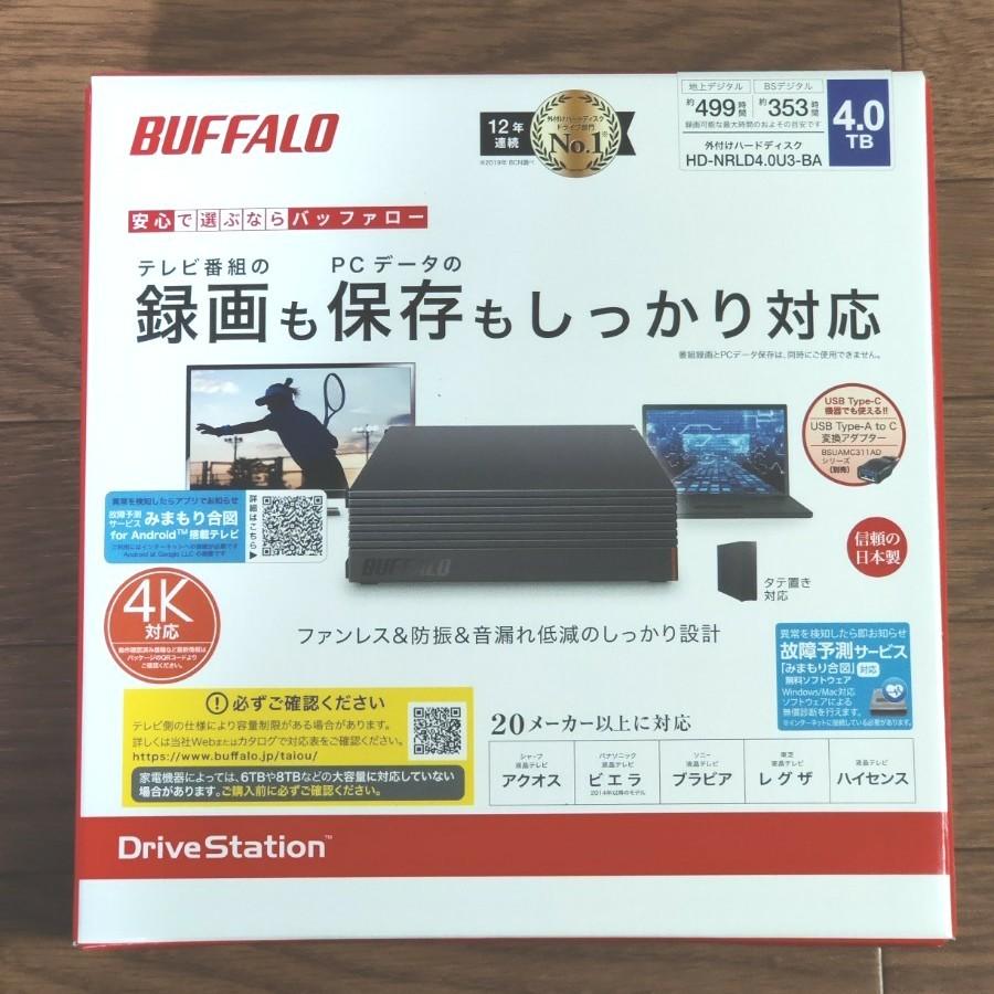 BUFFALO 外付けHDD 4TB