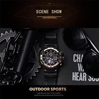 腕時計 メンズ SMAEL腕時計 メンズウォッチ 防水 スポーツウォッチ アナログ表示 デジタル 多機能 ミリタリー ライト時計_画像6