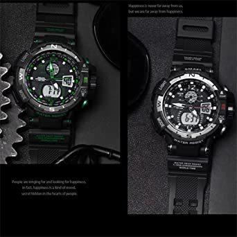 腕時計 メンズ SMAEL腕時計 メンズウォッチ 防水 スポーツウォッチ アナログ表示 デジタル 多機能 ミリタリー ライト時計_画像4