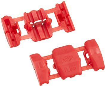 【新品未使用】エーモン2978配線コネクター(赤)DC12V80W以下/DC24V160W以下8個入_画像1