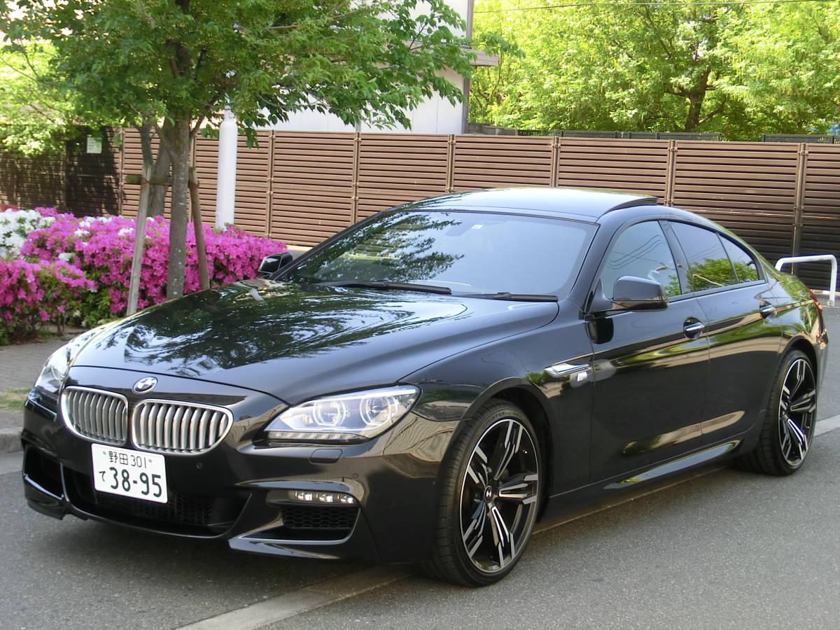 平成24年超極上!グランスポーツ最高グレード!!「BMW650iグランクーペ「Mスポーツ」4.4L/450馬力/8速パドル」売切!SR黒革/純正i-DriveナビTV