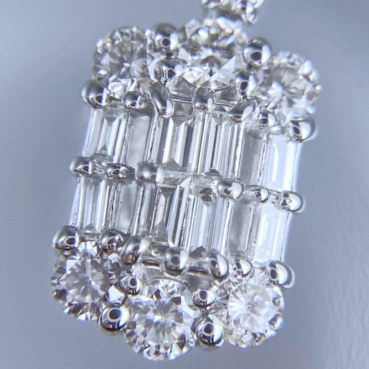 PT850 PT900 天然 ダイヤモンド 0.50ct ダイヤ ネックレス_画像6