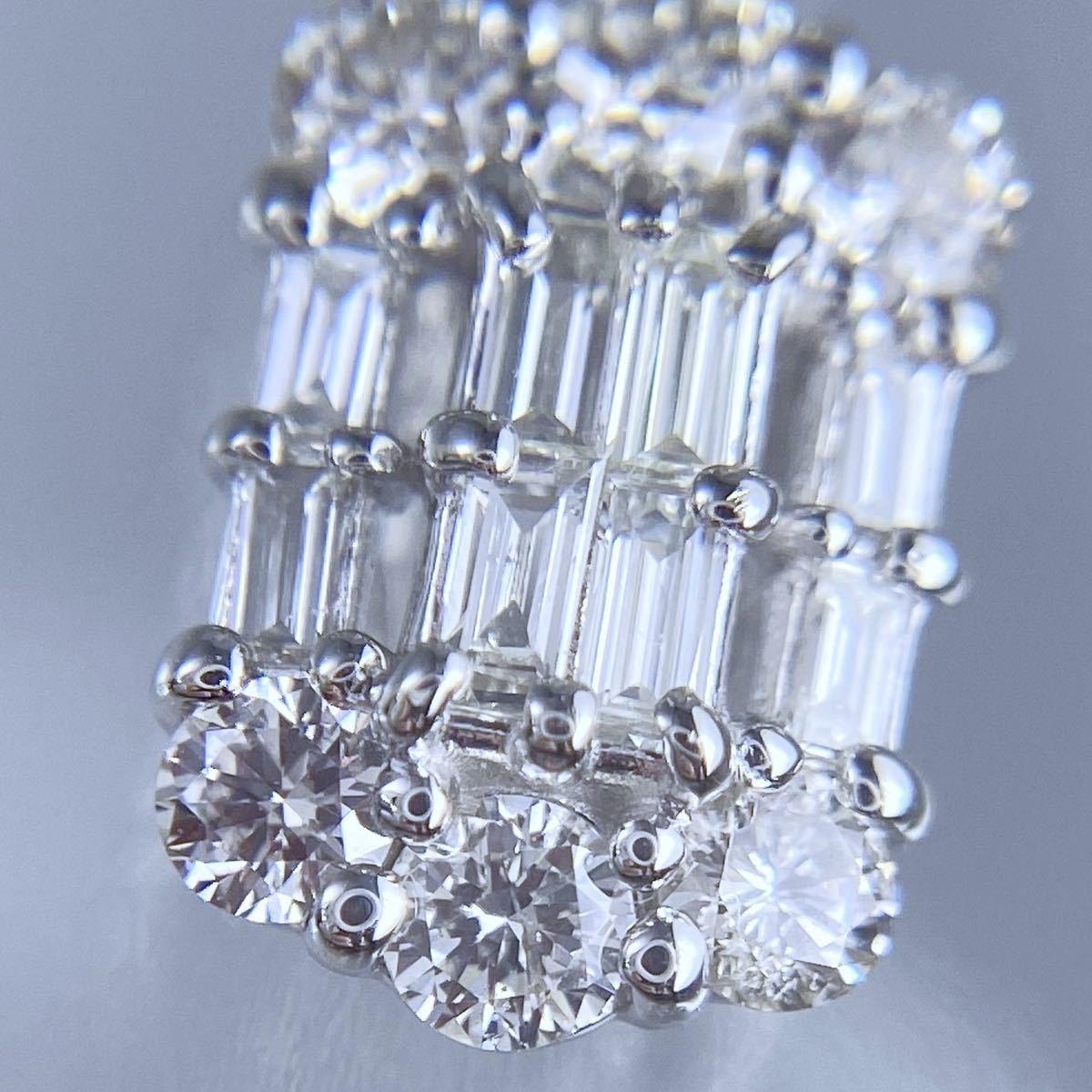 PT850 PT900 天然 ダイヤモンド 0.50ct ダイヤ ネックレス_画像5