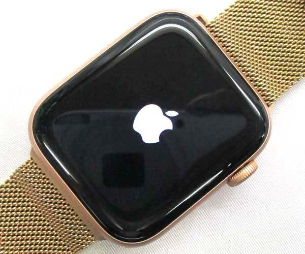 1円スタート Apple Watch Series 4 44mm MTVX2J/A ゴールド ピンクサンドスポーツループ