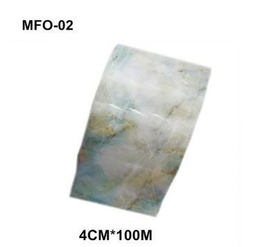 RT329:1ロール 大理石 パターン ネイルホイル 和風 ピンク ブルー ホイルネイル アート デカール マニキュア4センチ* 100メートル_デザイン2