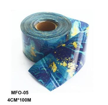RT329:1ロール 大理石 パターン ネイルホイル 和風 ピンク ブルー ホイルネイル アート デカール マニキュア4センチ* 100メートル_デザイン5
