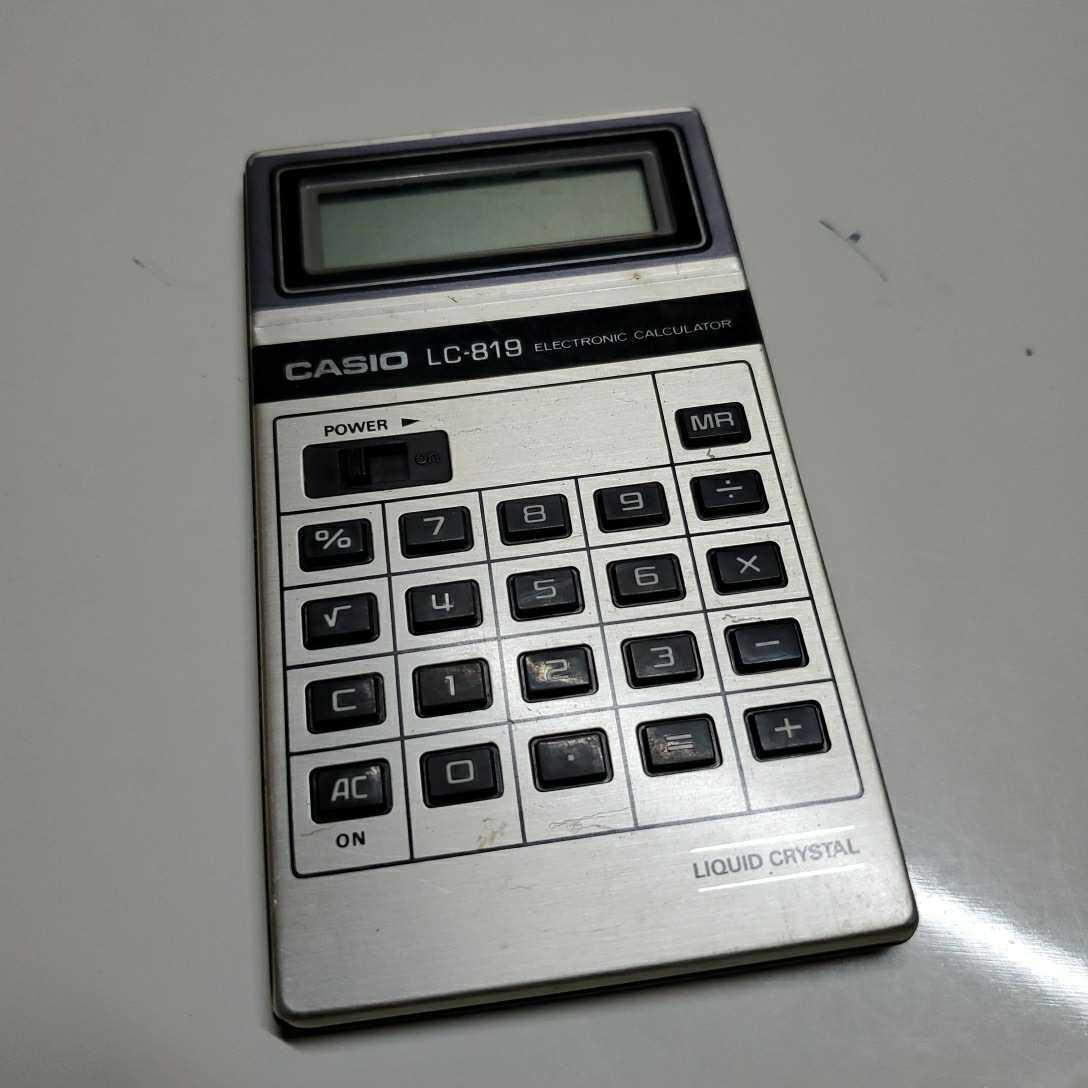 CASIO カシオ LC-819 昭和レトロ 電卓 コンパクト