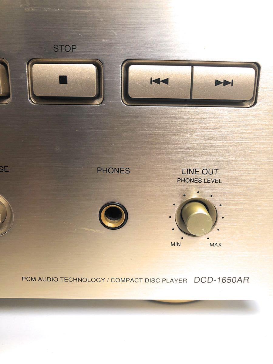 【稀少☆極上動作美品】銘機! DENON デノン DCD-1650AR CD プレーヤー CDデッキ 日本コロムビア デンオン _画像2