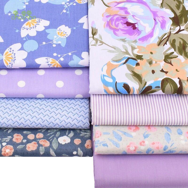 送料無料 ハンドメイド 花柄 生地 8枚セット 40×50 綿 はぎれ ハギレ お買い得 パッチワーク 裁縫 8種類 カットクロス レトロ 動物 紫