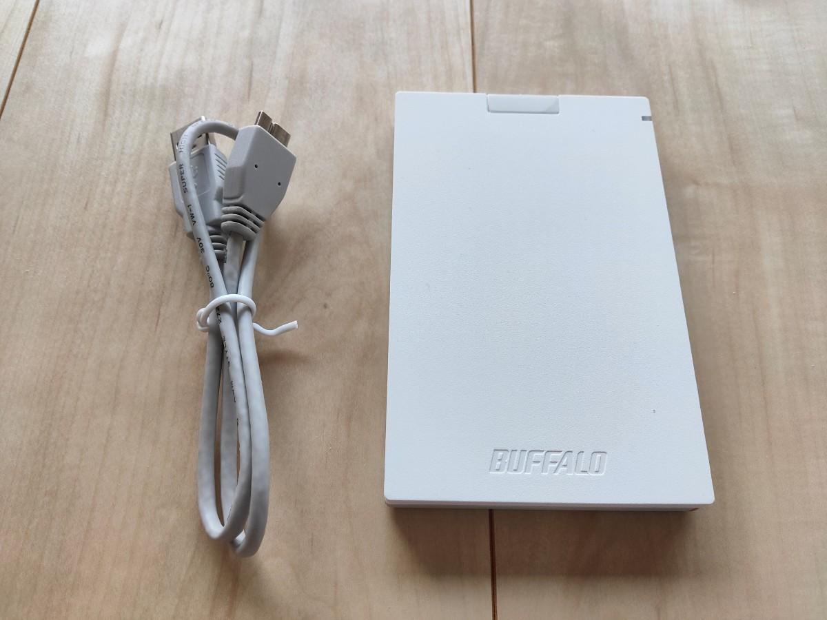 バッファロー 外付けSSD480GB小型ポータブル】耐振動・耐衝撃 USB3.1(Gen1)対応 SSD-PG480U3-WA