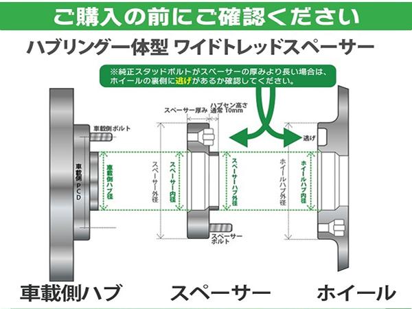 ワイドトレッドスペーサー ハブリング一体型 114.3-5H-P1.25-15mm PCD114.3 5穴 P1.25 15mm ナット付 銀 2枚_画像3