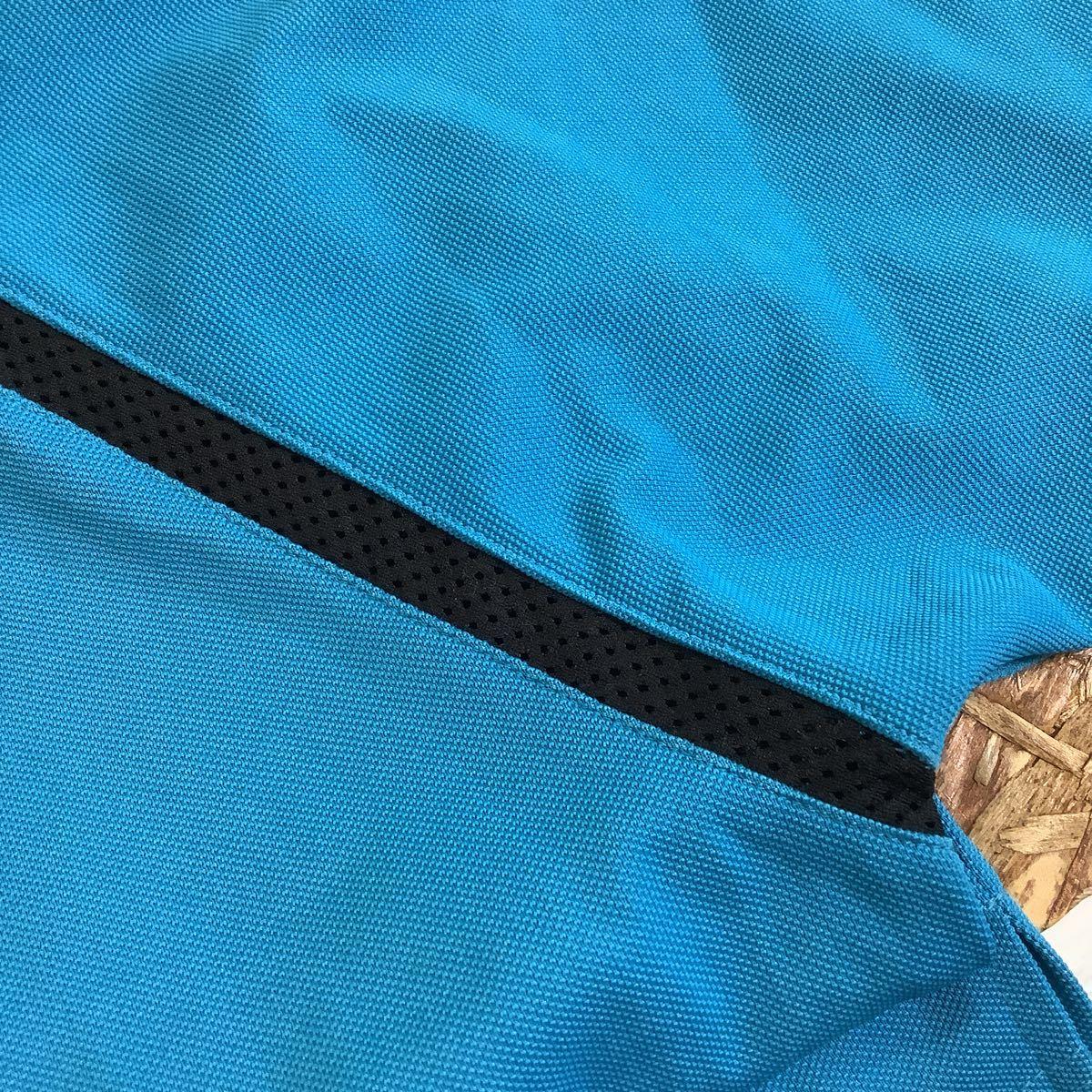 け713 ルコックゴルフ le coq sportif GOLF COLLECTION ハーフジップ 半袖ポロシャツ M ライトブルー_画像8