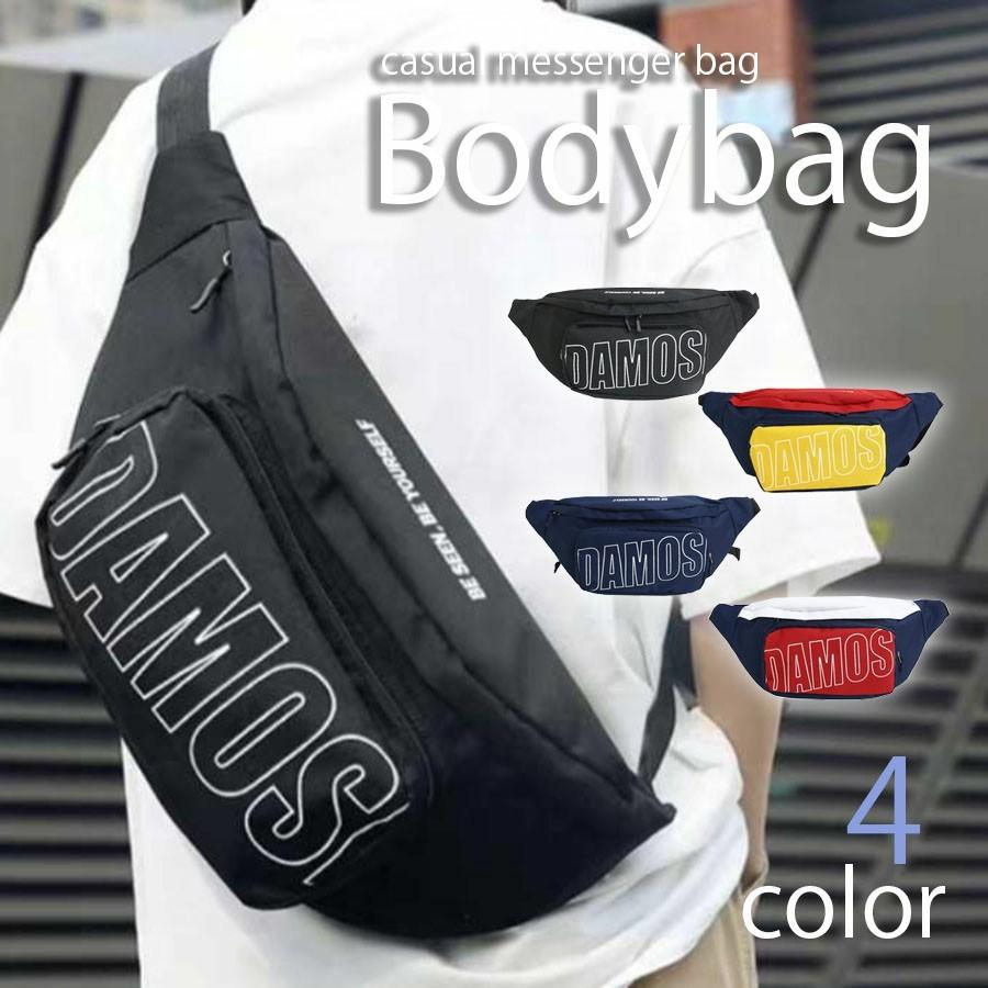 ボディバッグ メンズ バッグ ショルダーバッグ メッセンジャーバッグ カジュアル ウエストポーチ 肩掛け 斜め掛け ロゴ
